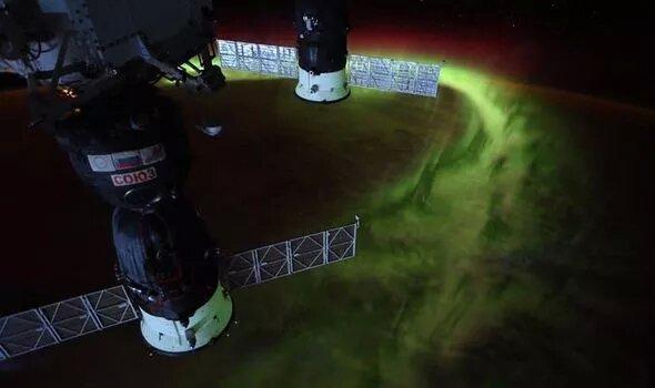 تصویر جنوبی ترین شفق قطبی از ایستگاه فضایی بین المللی