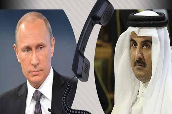گفتگوی تلفنی امیر قطر و پوتین درباره امنیت خلیج فارس