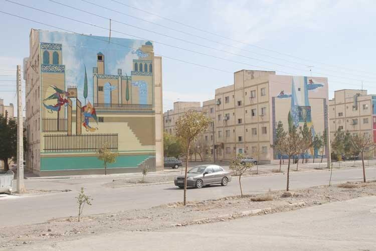 نمای شهر با هنر زیبا می گردد