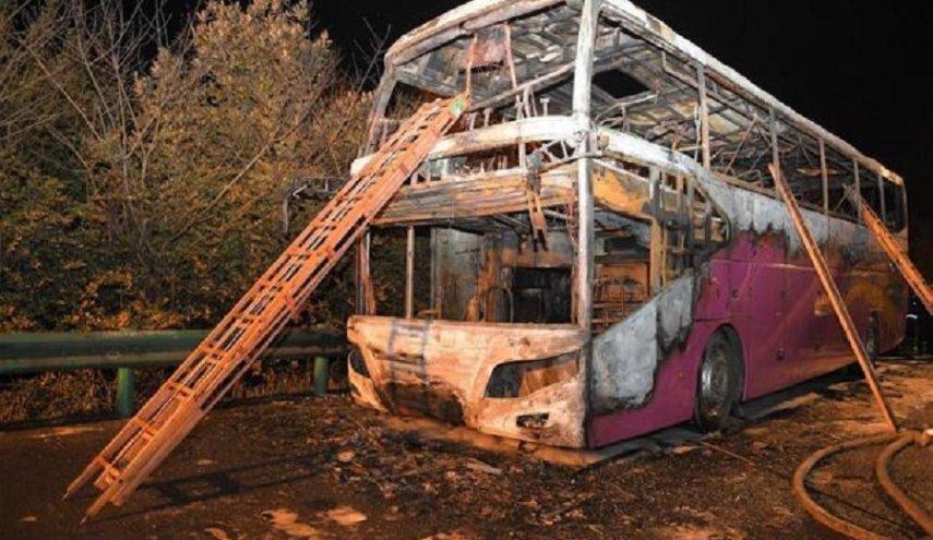 آتش دریافت اتوبوس گردشگران در چین 26 کشته بر جا گذاشت
