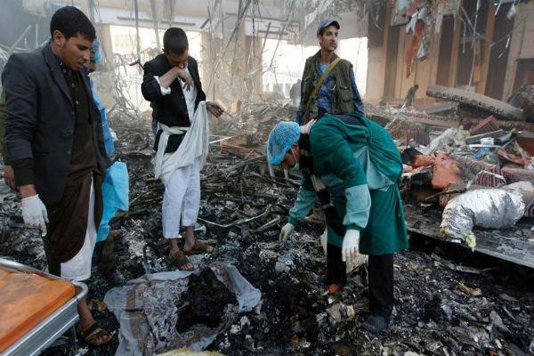 حملات گسترده سعودیها به مناطق مسکونی در صعده یمن