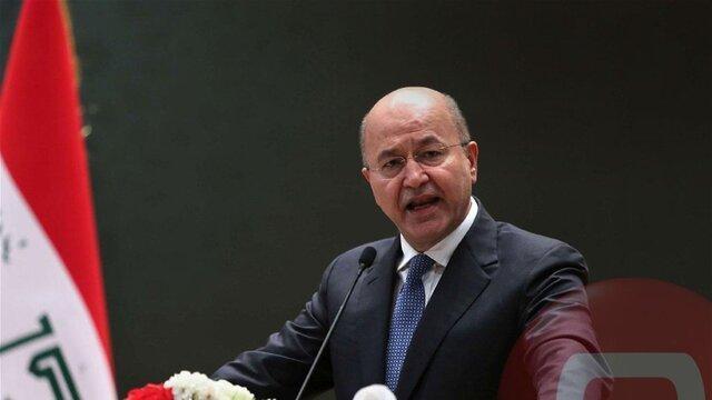 برهم صالح حمله آمریکا به حشد شعبی را محکوم کرد