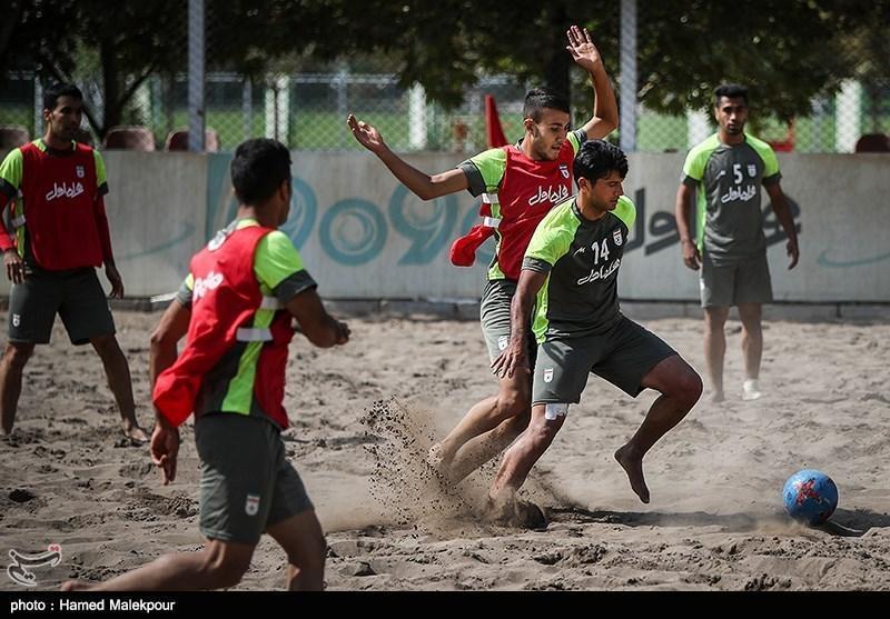 اردوی ساحلی بازان در عمان پیش از اعزام به قطر