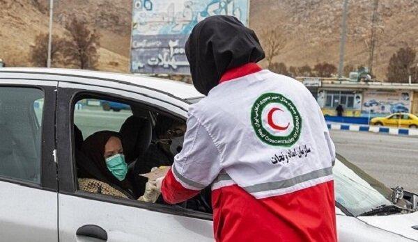 5 تیم هلال احمر زنجان در خیابان ها موارد بهداشتی را هشدار می دهند