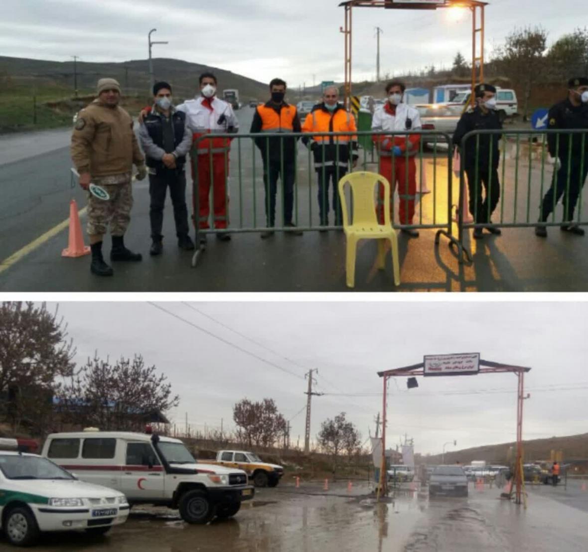 کنترل تردد در جاده های منتهی به مهاباد
