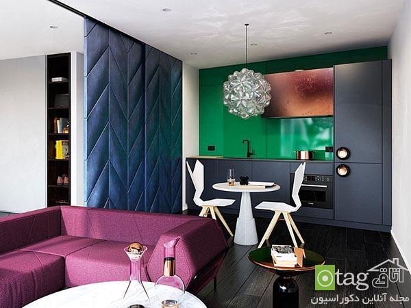 دکوراسیون واحد آپارتمانی لوکس در شهر لندن با نمای خیره کننده
