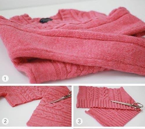 تبدیل لباس های قدیمی به شال و کلاه و دستکش