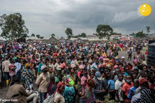 (تصاویر) فرار از ترس فوران دوباره آتشفشان در کنگو