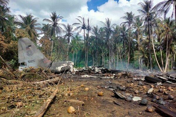 تلفات سقوط هواپیمای نظامی در فیلیپین به 50 نفر افزایش یافت