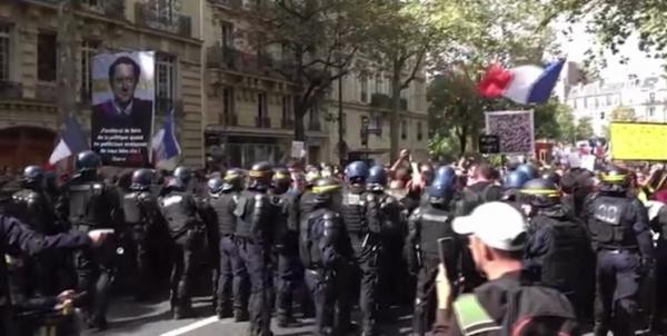 تور فرانسه: نهمین هفته اعتراضات فرانسه علیه سیاست های کرونایی دولت